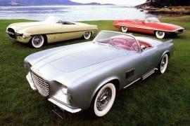 Dodge Firearrow 1954,  Chrysler Falcon 1954, Chrysler Diablo 1957