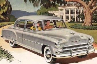No Chevrolet 1951 os limpadores eram a vácuo: deixavam de atuar quando mais se acelerava
